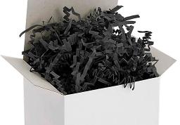Black Crinkle Paper