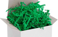 Green Crinkle Paper