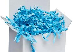 Light Blue Crinkle Paper
