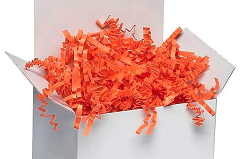 Orange Crinkle Paper