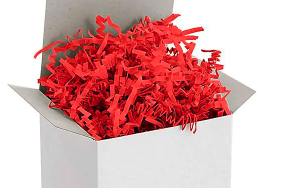 Red Crinkle Paper