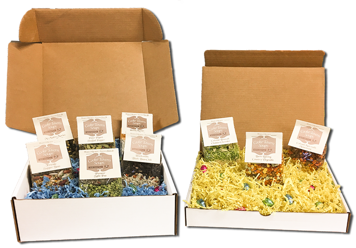 3-soup and 6-soup Easter Gift Boxes